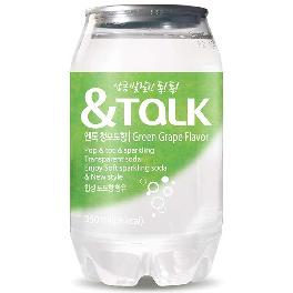 Food Science &Talk Green Grape Flavor Low Carbonated Soda (350ml x 24ea)