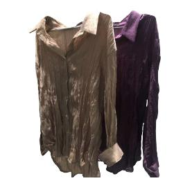 A woman's Pleated Blouse (Silk / women / free size)