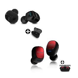 Wireless Automatic Bluetooth Earphone  ATWO AT231 BLACK / RED