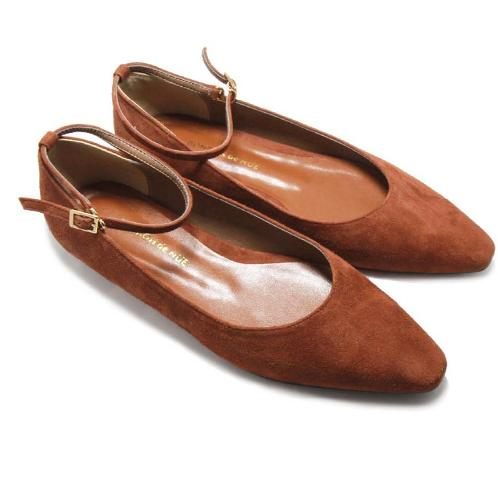 [BONBON de NUE] Charlotte Maryjane Flat Shoes cognac | ankle, fashion, accesarry,boots, ladies, Korean