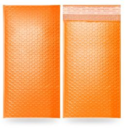H-Package 100 Pack 12x15.5 Orange Poly Mailer Envelopes Shipping Bags Self Adhesive, Waterproof