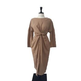Korea Fashion Venice and Simple Fall  Woman Dress(Free size for women / Brown and Deep green)