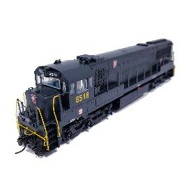 Korea Brass HO 1/87 Scale GE U25C U252020 PRR #6518 DC only Detailed Model Train