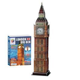 Educational Creative Toy DIY 3D Paper Kit Children Game London Big Ben