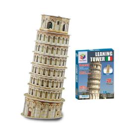 Educational Creative Toy DIY 3D Paper Children Game Leaning Tower of Pisa