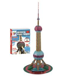 Educational Creative Toy DIY 3D Paper Kit Children Game Oriental Pearl TV Tower