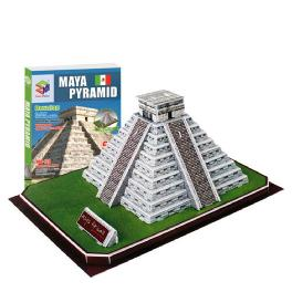 Educational Creative Toy DIY 3D Paper Kit Children Game Maya Pyramid