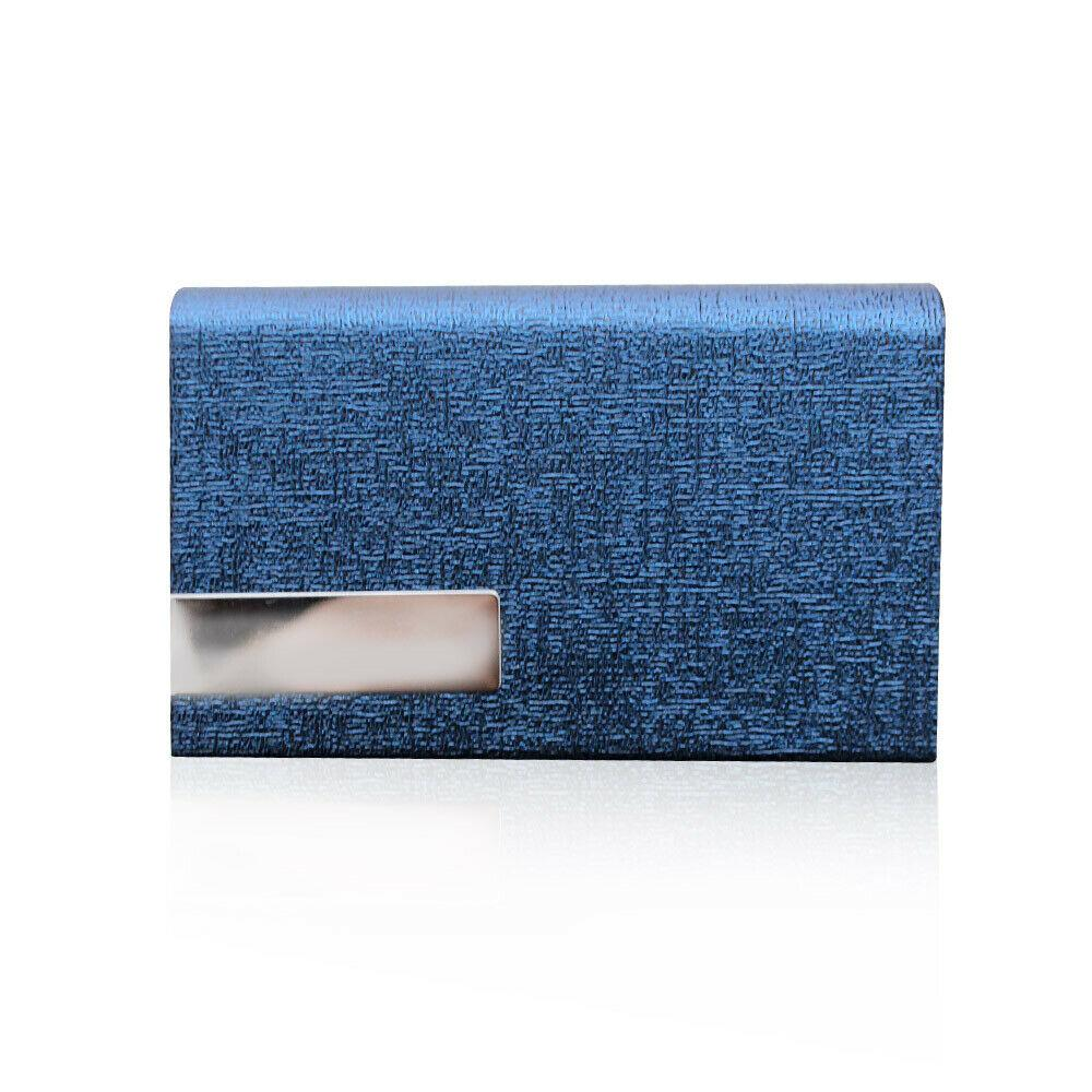 VIC High Quality PU Leather Open Type Magnetic Closure Business Card Holder