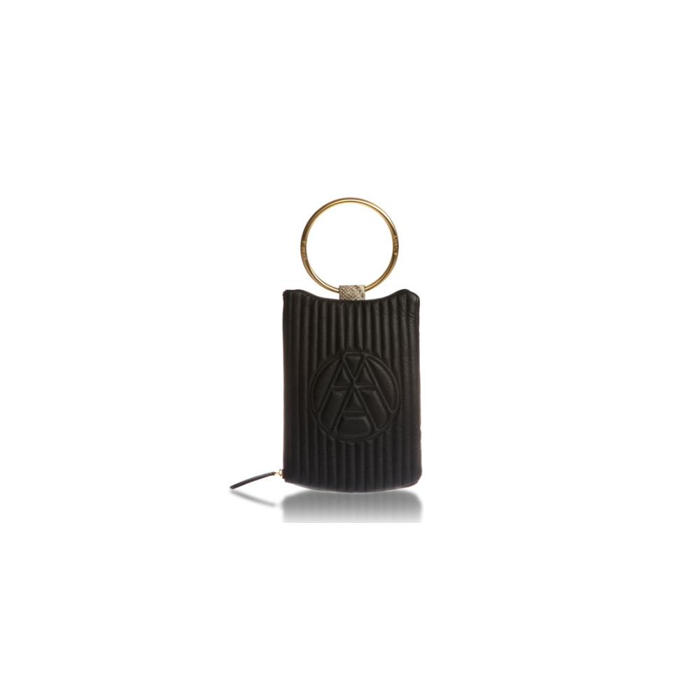 [ARAC.9] NUBI-LOGO CLUTCH_black
