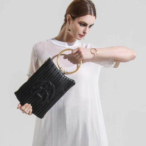 [ARAC.9] NUBI-LOGO CLUTCH_black | Arach Nine, Cross Bag, Melt Bag, Recommended Bag in 30s, Designer Brand, Tote Bag