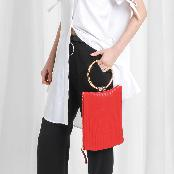 [ARAC.9] NUBI-LOGO CLUTCH_scarlet red