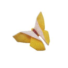 Korea Tradition Souvenir Unkyoung Butterfly Pin(7 x 6 x 2.5 cm/Two colors available-Orange and Red)