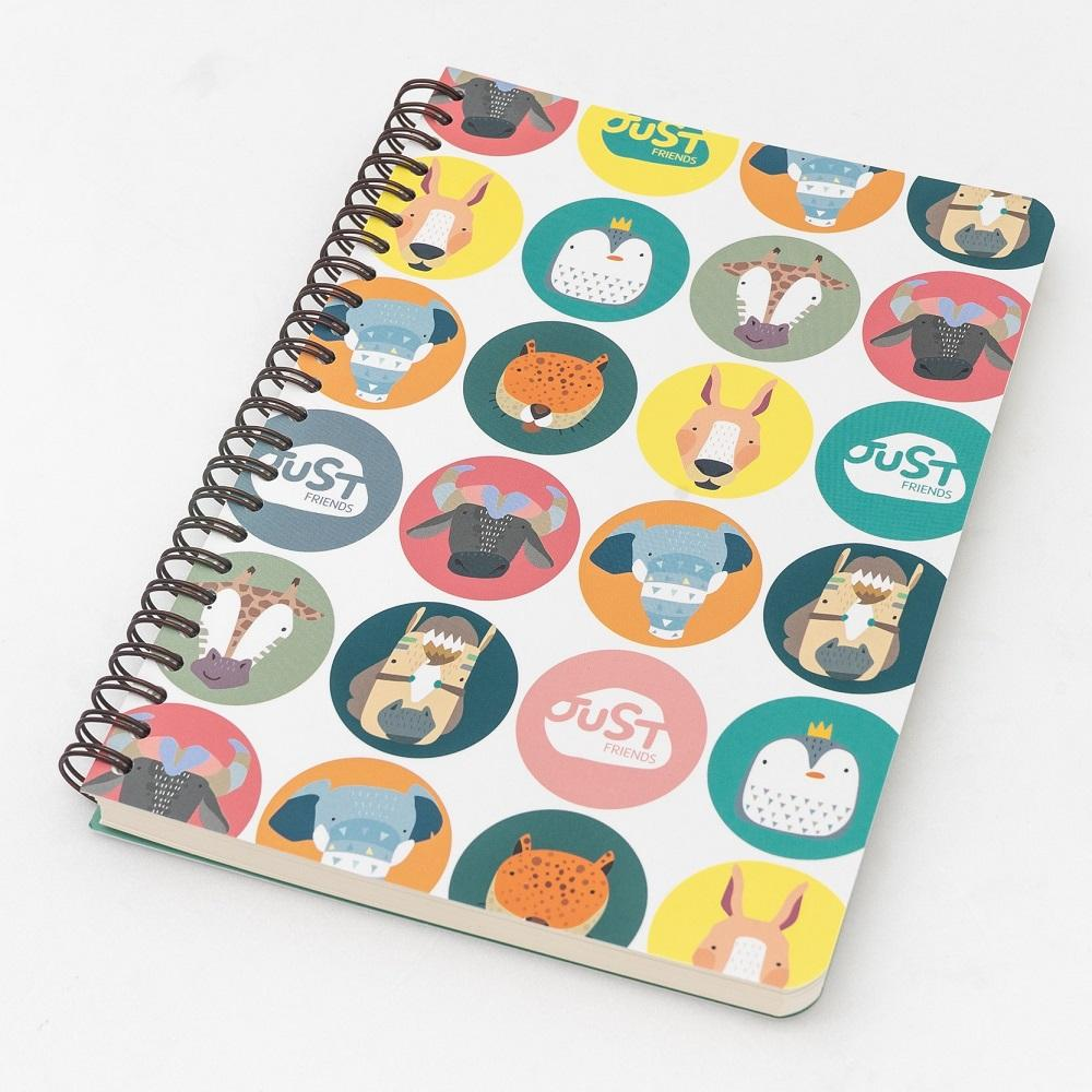 [JustFriends]Lined, Twin-Ring Notebook M/L