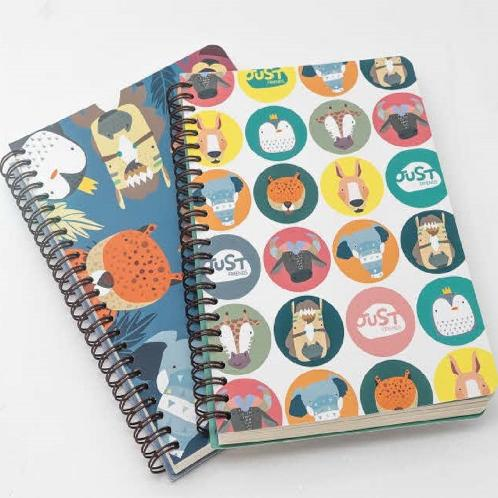 [JustFriends]Lined, Twin-Ring Notebook M/L | K-design, Matt coating cover, notebook, Stationery, school supplies, Korean