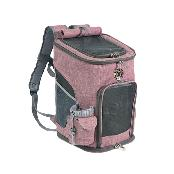 N-Pet Fabric Pet Carrier Backpack for Pet Dog Cat Linen Material Fixing Buckle 24 x 27 x 43cm