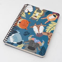 [JustFriends] Spiral Notebooks with 100 Ruled Pages for Home School Travel