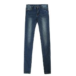 New Men's Jeans Skinny Trousers with chain Denim Jean korea