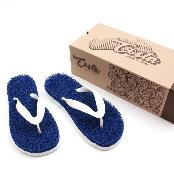Costa Coil Beach Sandal Women's Men's Summer Casual Flip Flop Slipper Made of PVC Coil Mat - Blue