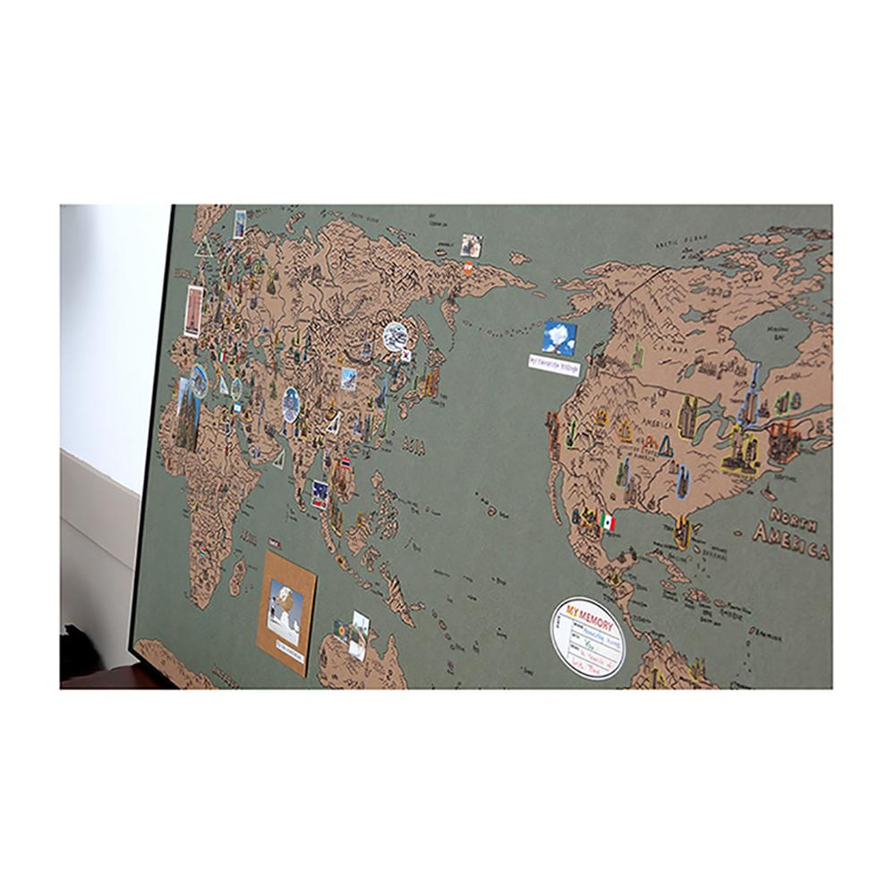 Dream Sky D-MAP Decorative Coloring Painting DIY Paper World Map - VINTAGE