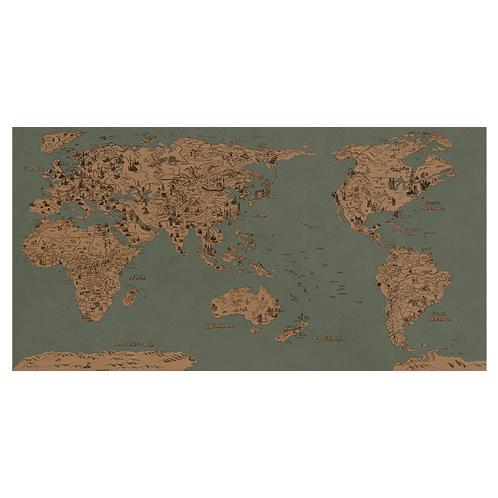 Dream Sky D-MAP Decorative Coloring Painting DIY Paper World Map - VINTAGE | decor, fancy, decorative, diy, paiting, coloring, paper, world, map, stick, wall, décor, decal, sticker, educational, landmark, home, deco, poster, track, adventure, scratcher, mobile, art
