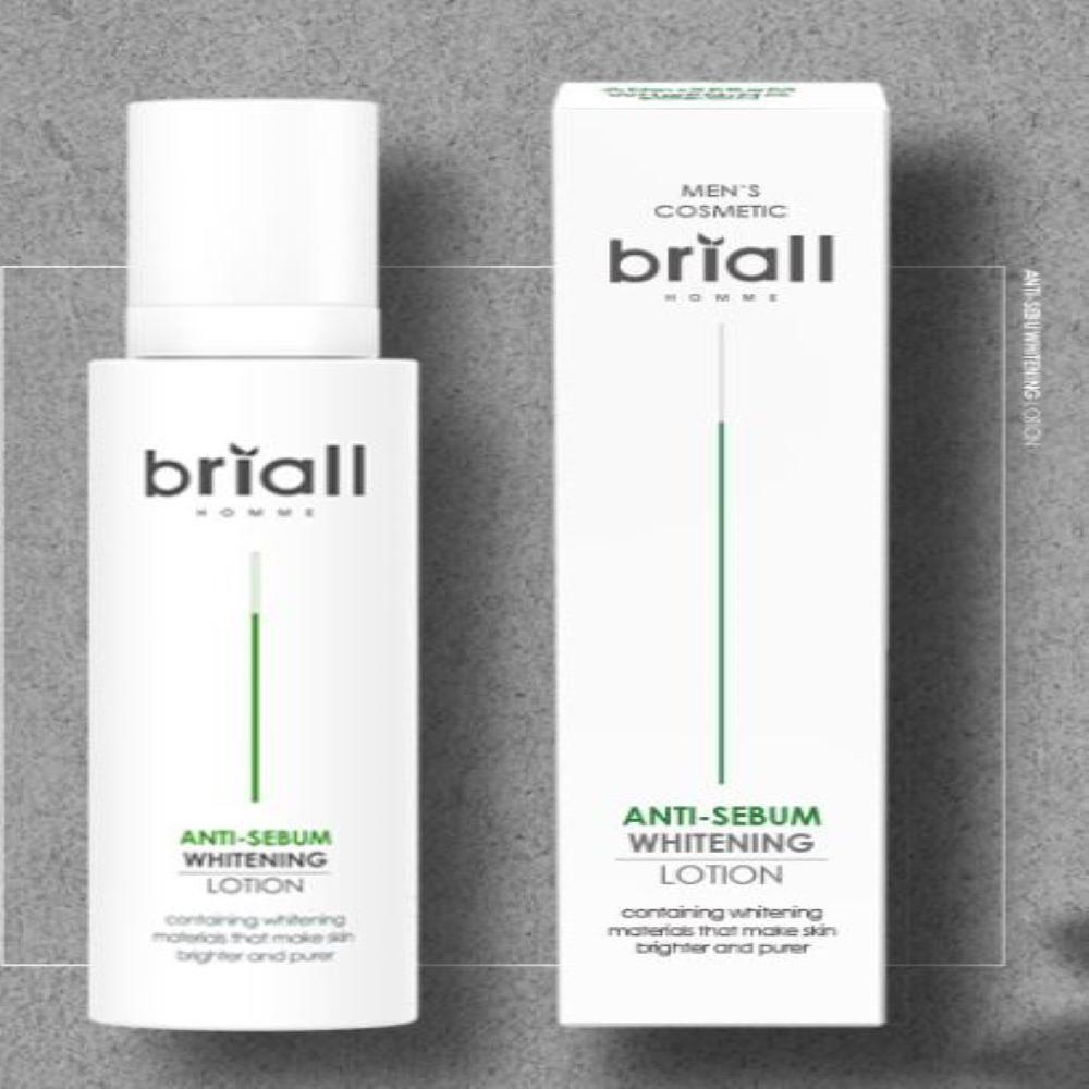 Briall Homme Anti-Sebum Whitening Toner and Lotion Set