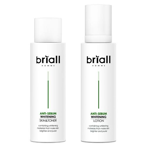 Briall Homme Anti-Sebum Whitening Toner and Lotion Set | Skin, Care, Pure, Men, Set