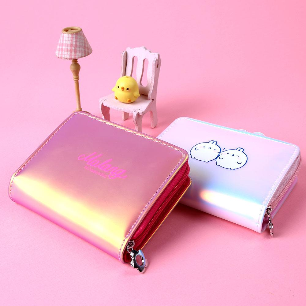[Korean Import/ Magic Channel] Molang Bling Bling Hologram Wallet