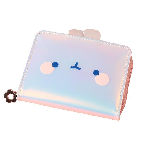 [Korean Import/ Magic Channel] Molang Bling Bling Hologram Wallet | Pencil case, Bag, Pouch, Korean,  Stationery, K-design, Molang