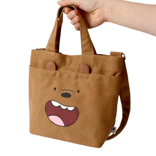 [Korean Import/ Magic Channel] We Bare Bears Mini Eco Canvas Bag | Pencil case, Bag, Pouch, Korean, Stationery, K-design, We Bare Bears