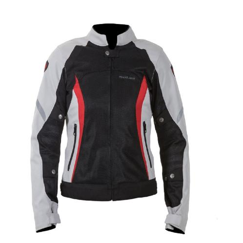 [MAXLER] Double Mesh Jacket for Women Motorcycle Motorbike Biking (Black/Red) | Women, Girl, Workwear, Jacket