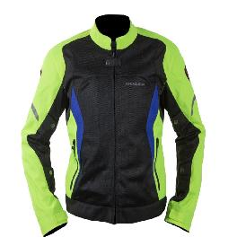[MAXLER] Double Mesh Jacket for Men Motorcycle Motorbike Biking Jacket (Black/Neon)