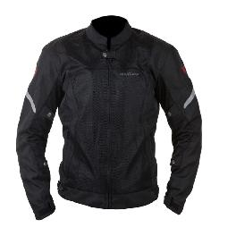 [MAXLER] Double Mesh Jacket for Men Motorcycle Motorbike Biking Jacket (Black)