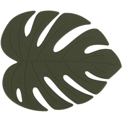 Dailylike Silicon Trivet - Monstera | Trivet, Deep green, Leaf,  Silicone, Flexible