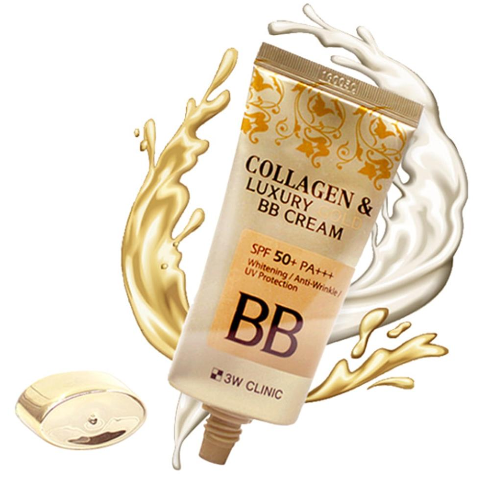 [3W CLINIC] Collagen & Luxury Gold BB Cream (SPF50+/PA+++) 50ml - Korea Cosmetic