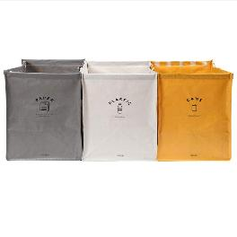 DailyLike Tarpaulin Recycling Bin Bag with Handle, Waterproof Compartment Container (Little Bird)