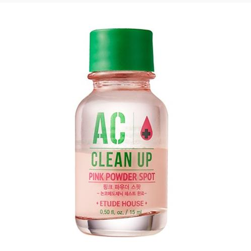 [ETUDE HOUSE] AC Clean Up Pink Powder Spot 15ml / Soothing spot treatment | skin, flawless, toner, lotion, essence, powder, cosmetic, soothing, moisturizing, naturally, anti-aging, youthful