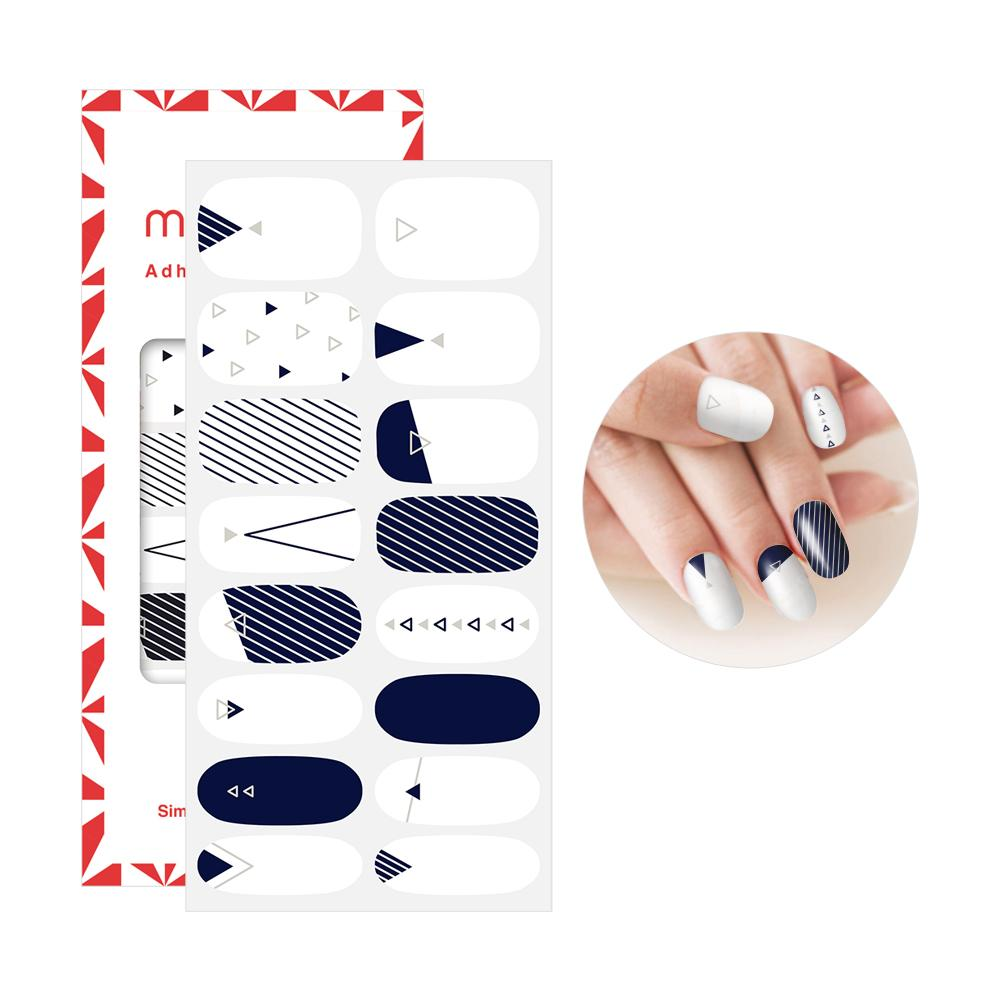 Mango 10 Adhesive Nail Polish - 2 - TRIANGLE DENIM