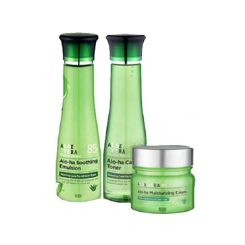 ALOE VERA SKIN CARE SET (TONER, EMULSION, CREAM) | REDDY, ALOE VERA, TONER, K-BEAUTY, KOREAN COSMETIC, EMULSION, CREAM, SKIN CARE