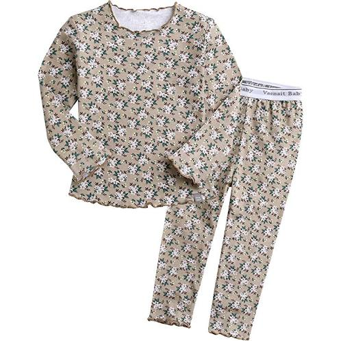 Vaenait baby 12M-7T Kids Girls 100% Cotton Flower Pattern Sleepwear Pajama Pjs Set(Maybe Beige) | Sleepwear, Kids,  Girls ,Boys, Kids Pajama