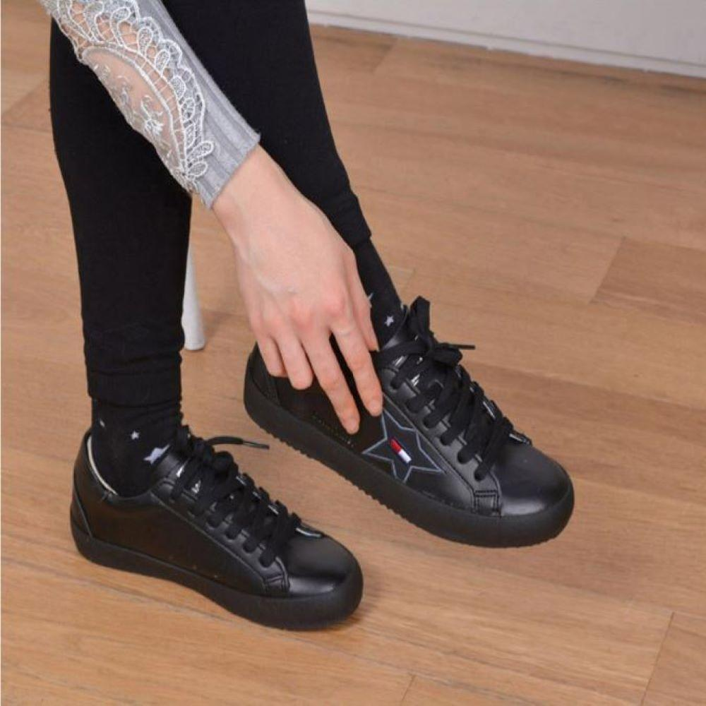 【OUNITY SPORTS】Casual Lace up Sneakers_Black
