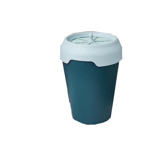 DEOCUBE CAN /DeodorizingㆍAntibacteria  Food Waste Bin - DARK GREEN(BODY) + MINT GRAY(COVER) | Food Waste Bin, Compost Bin, Multi-Purpose Waste Bin, Deocube -Can,Waste Bin, Cleaning Atmosphere, Fresh Livingroom, Fresh Kitchen, Convenient Trash bin