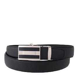 Natural cowhide Ratchet Belt With Automatic Buckle(Matte Black)