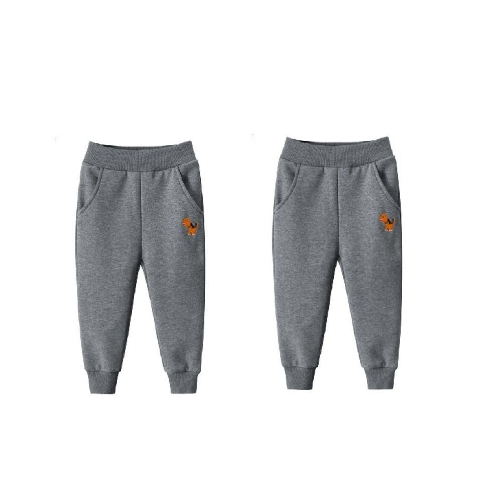[HANSANGEL] Boys Pants_Gray (Boys Winter Fleece Lined Pants Warm Clothes for Kids)