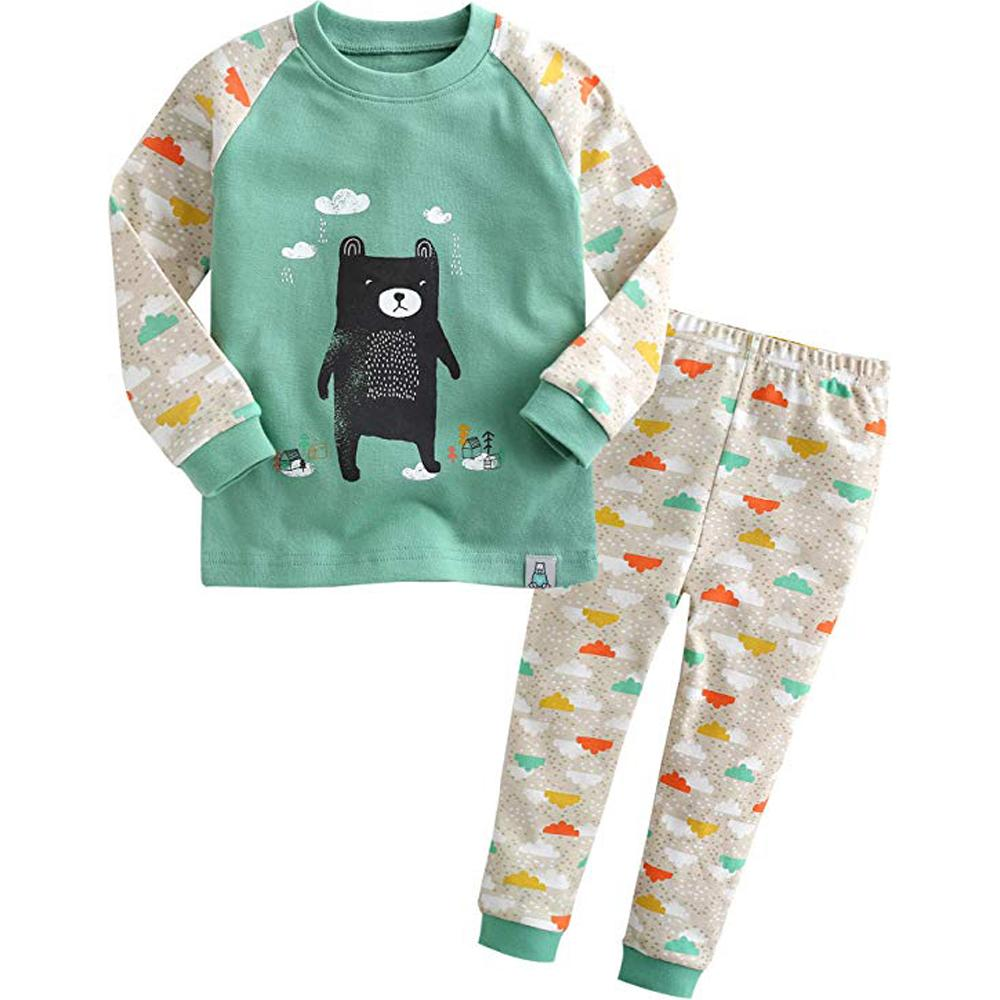 Vaenait baby 12M-7T Kids Baby Boys 100% Cotton Sleepwear Pajama Set Boys Collection_O-bear