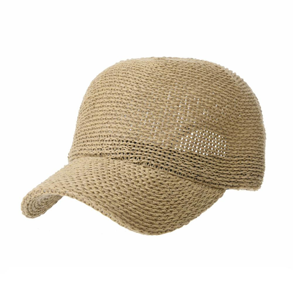 WITHMOONS Baseball Cap Summer Cool Paperstraw Cotton Mesh Ballcap