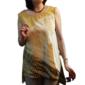 Natural Dyed Cotton Blouse