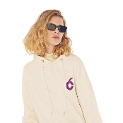 [Holly Number 7] C Hood sweat-shirt_WHITE