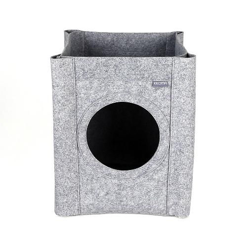 KKOMA HOUSE for Cat | cat house, pet's house, comfortable house, IKEA FROST, wooden stool, function of chair