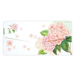 MONEY ENVELOPE PINK HYDRANGEA Currency Envelopes for Cash Gifts, Graduations, Weddings and Birthdays