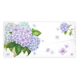 MONEY ENVELOPE PURPLE HYDRANGEA Currency Envelopes for Cash Gifts, Graduations, Weddings